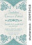 antique baroque invitation... | Shutterstock .eps vector #250953418