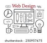 web design. vector illustration ... | Shutterstock .eps vector #250957675