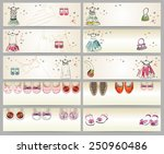 fashionable beautiful clothes... | Shutterstock .eps vector #250960486