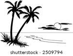 palm tree seascape | Shutterstock .eps vector #2509794