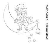 Leprechaun Sitting On The Moon...