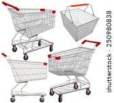 vector supermarket carts and... | Shutterstock .eps vector #250980838
