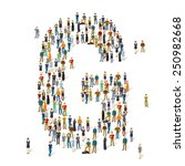 people crowd. vector abc ... | Shutterstock .eps vector #250982668