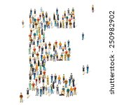 people crowd. vector abc ... | Shutterstock .eps vector #250982902