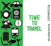 traveling and transport icons...
