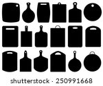 set of kitchen cutting boards... | Shutterstock .eps vector #250991668