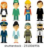 people occupation characters... | Shutterstock .eps vector #251006956