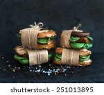 cured chicken and spinach whole ... | Shutterstock . vector #251013895
