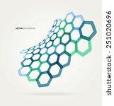 abstract wave vector hexagons... | Shutterstock .eps vector #251020696