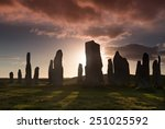 megalithic stone circle of 3000 ... | Shutterstock . vector #251025592