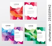 collection set of brochure... | Shutterstock .eps vector #251035942