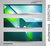 set of banners  technology art... | Shutterstock .eps vector #251051746
