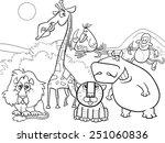 Black And White Cartoon Vector...