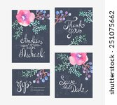 invitation card for wedding... | Shutterstock .eps vector #251075662