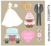 wedding design element set... | Shutterstock .eps vector #251088976