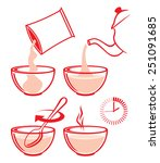cooking instruction for prepare ...   Shutterstock .eps vector #251091685