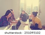 young group of people... | Shutterstock . vector #251095102