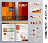 red brochure template design...   Shutterstock .eps vector #251098438