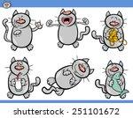 cartoon illustration of funny... | Shutterstock . vector #251101672