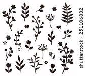 leaf and flower elements | Shutterstock .eps vector #251106832