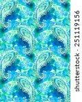 seamless paisley pattern.... | Shutterstock . vector #251119156