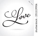 love original custom hand... | Shutterstock .eps vector #251119906