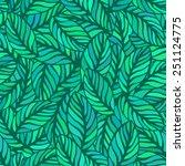 seamless pattern on leaves...   Shutterstock .eps vector #251124775