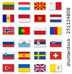 european countries flags set 2 .... | Shutterstock .eps vector #251124808