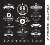 retro vintage insignias or... | Shutterstock .eps vector #251139016