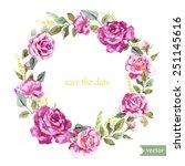 watercolor  wreath  frame ...   Shutterstock .eps vector #251145616