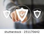 button shield security virus... | Shutterstock . vector #251170642