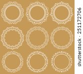 set collections of round... | Shutterstock .eps vector #251172706