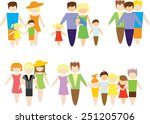 set of family icons   mother ... | Shutterstock .eps vector #251205706