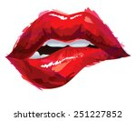 sexy biting lips | Shutterstock .eps vector #251227852