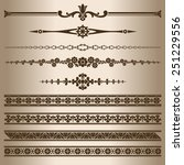 decorative lines. design...   Shutterstock .eps vector #251229556
