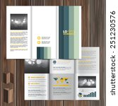 white brochure template design... | Shutterstock .eps vector #251230576