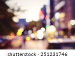 city lights blurred bokeh... | Shutterstock . vector #251231746