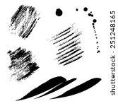 black strips | Shutterstock .eps vector #251248165