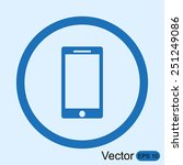 mobile vector icon | Shutterstock .eps vector #251249086