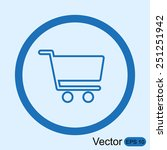 shopping cart icon | Shutterstock .eps vector #251251942