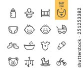 baby icons. vector illustration. | Shutterstock .eps vector #251253382