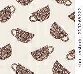 Seamless Pattern With Mugs...