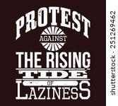 protest against the rising tide ... | Shutterstock .eps vector #251269462