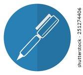 pen icon.  flat style. vector... | Shutterstock .eps vector #251274406