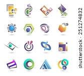 set of templates gradient logos.... | Shutterstock .eps vector #251274832