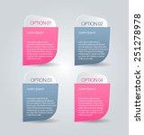 business infographics tabs... | Shutterstock .eps vector #251278978