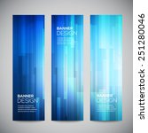 blue low poly vector vertical... | Shutterstock .eps vector #251280046