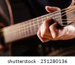 photo of a woman playing an... | Shutterstock . vector #251280136