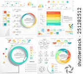four templates for presentation ... | Shutterstock .eps vector #251282512