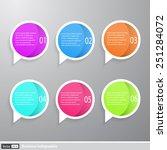vector infographics. creative... | Shutterstock .eps vector #251284072